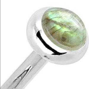 Jewelry - Labradorite 14KT Nose Ring. PRICE SLASHED!